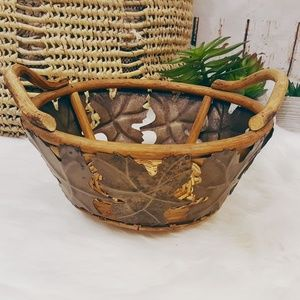 Large Fall Oak Leaves Centerpiece Basket